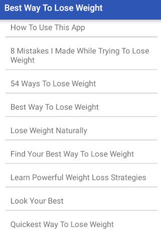 Best Way To Lose Weight- screenshot