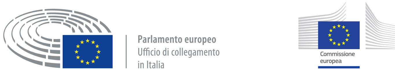 Loghi Parlamento europeo e Commissione europea