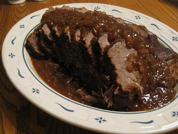 Balsamic Roast Beef In The Crock-pot Recipe