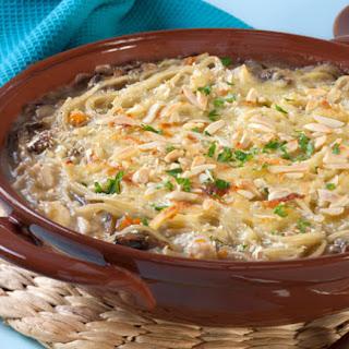Chicken–Rice Noodle Casserole.