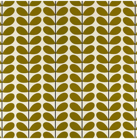 Two Colour Stem av Orla Kiely - olive