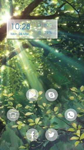 Green tree sunshine theme