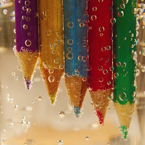 Crayons by Ovidiu Sova - Artistic Objects Still Life ( coloured crayons writing tools,  )