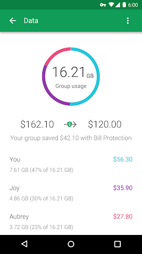 Screenshot 3 for Project Fi's Android app'