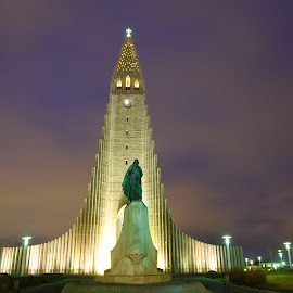 Hallgrímskirkja by Peter Stratmoen - Uncategorized All Uncategorized ( reykjavik, lutheran, hallgrimskirkja, church, iceland )