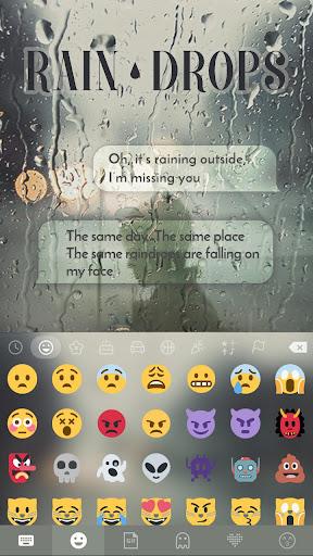 Rain Drops Kika Flat Theme Screenshot