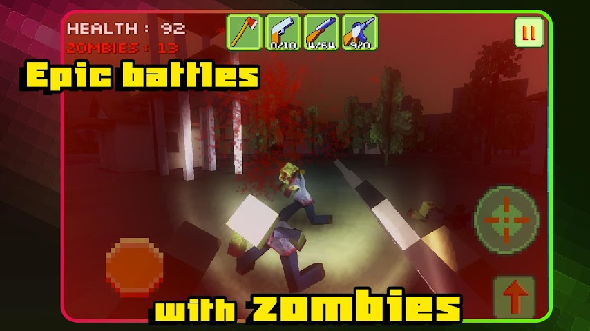 android Pixel Zombie Apocalypse Day 3D Screenshot 1