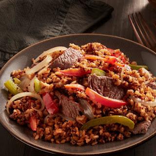 Steak & Peppers Brown Rice & Quinoa.