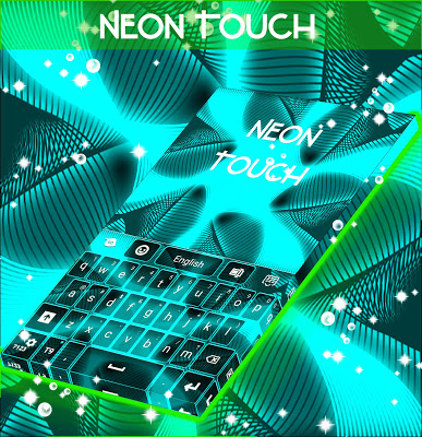 Neon Touch Keyboard - screenshot