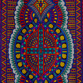 Stain Glass Mosaic by Amada Gonzalez - Illustration Abstract & Patterns ( abstract, burgess, coloring, adult, mosaic )