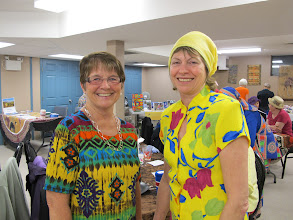 Photo: Whew - love the colorful Grannies Carol S. and Lynda.