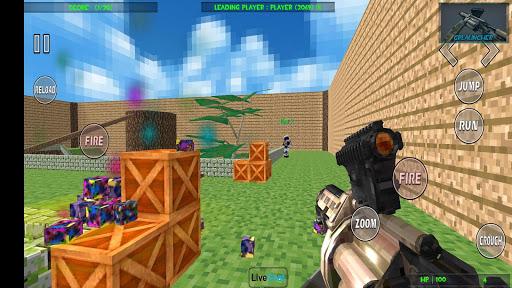 Paintball shooting war game: blocky gun paintball screenshots 1