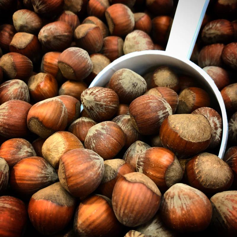 sarapuupähklid kühvlil