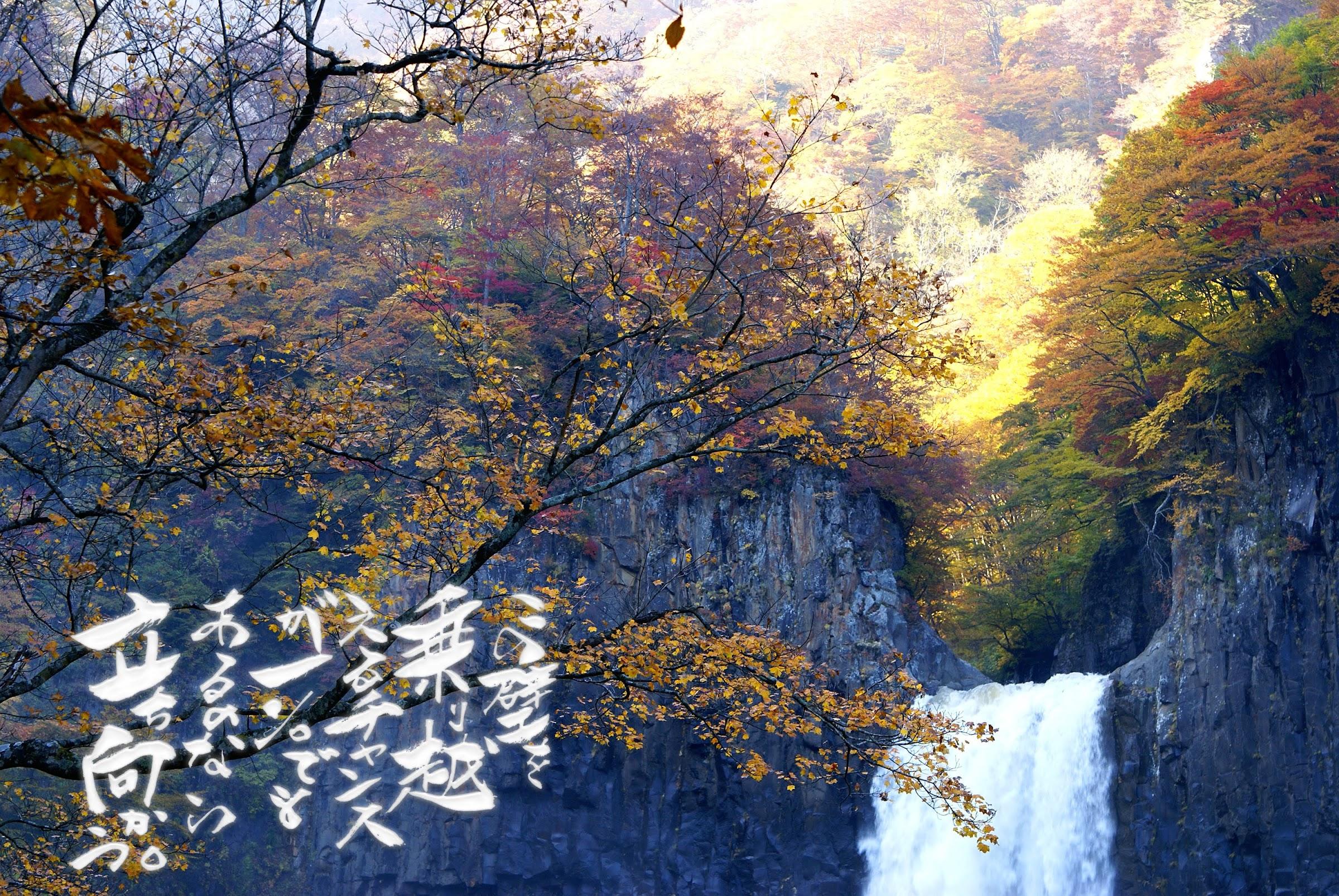 妙高02日本の滝百選「苗名滝」新潟県妙高市杉野沢1