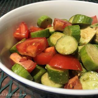 Balsamic Tomato Cucumber Avocado Salad Recipe