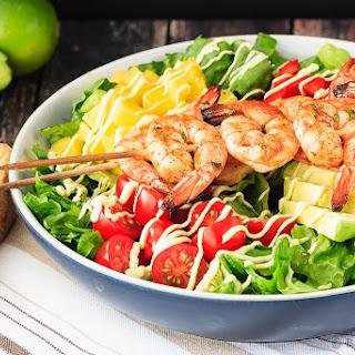 Cilantro Lime Grilled Shrimp Salad