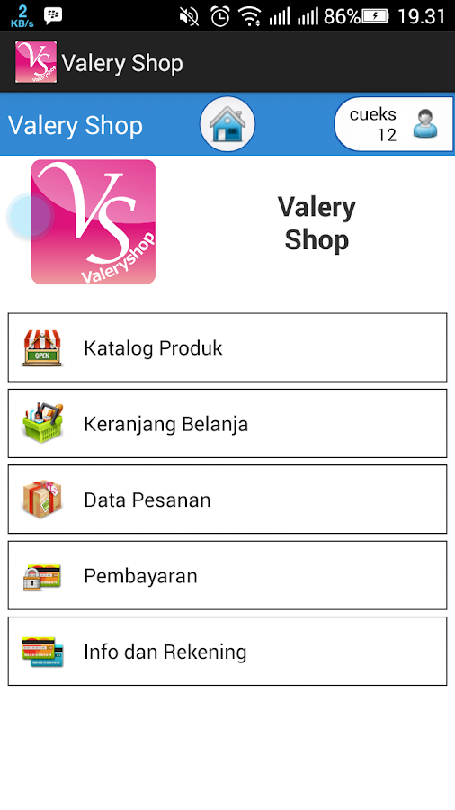 Valery Shop- screenshot