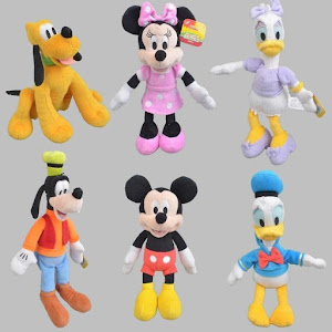 Set 6 jucarii de plus cu personaje Disney 30 cm