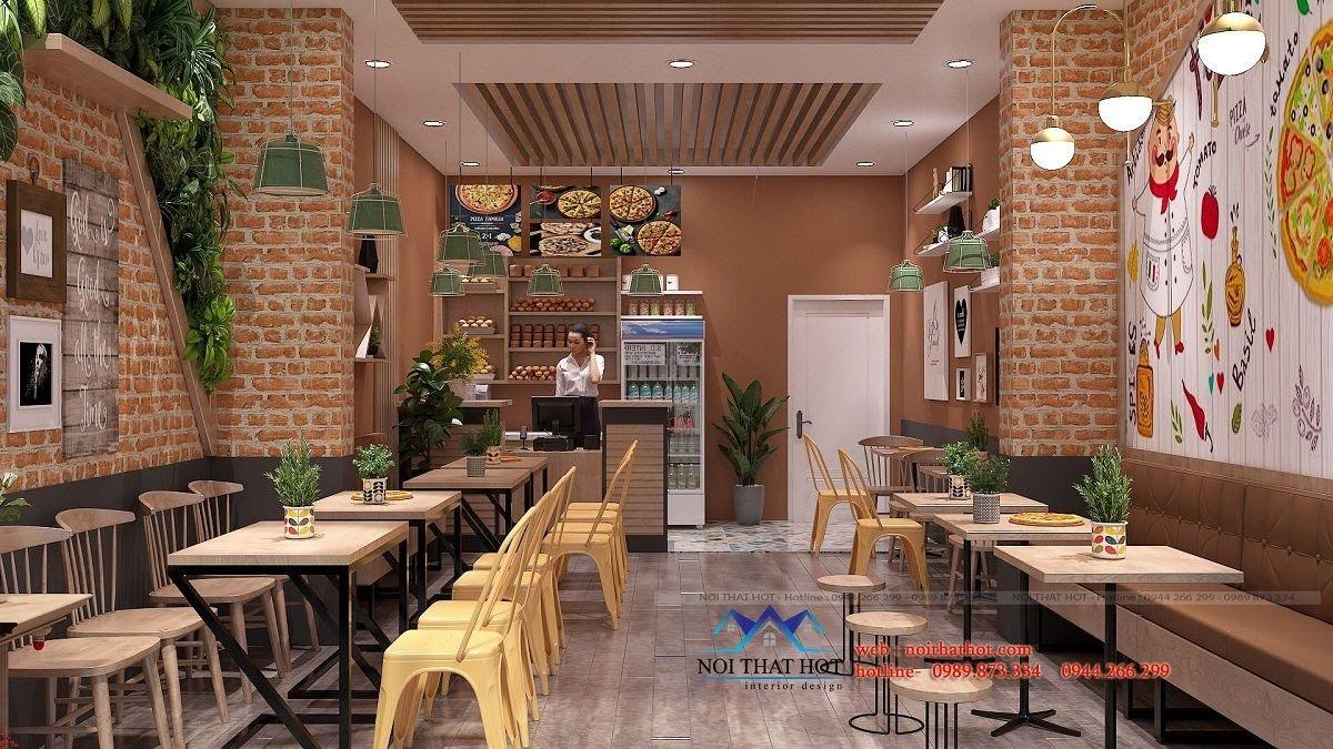 thiết kế cửa hàng pizza bau's 7