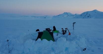 Photo: Camp on the border between Alaska and Canada.