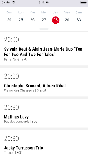 Agenda Jazz Paris 2.0.0 screenshots 1