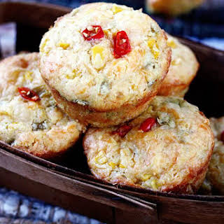Green Chile & Cheddar Corn Muffins.