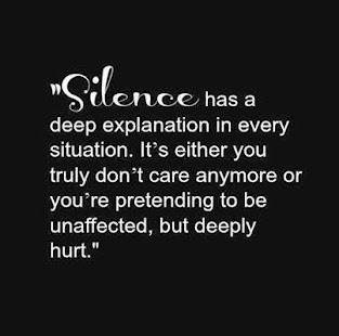 sad silence quotes
