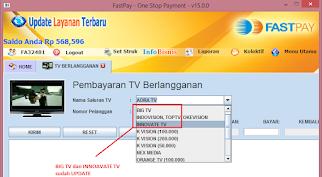 Fastpay pembayaran tv berlangganan