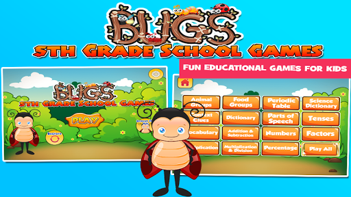 Bugs 5th Grade Learning Games