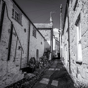 Mousehole by Graham Kidd - Black & White Street & Candid