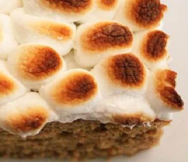 Marshmallow Topped Sweet Potato Cake