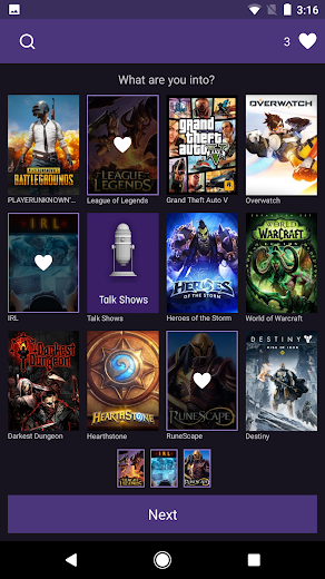 Screenshot 4 for Twitch.tv's Android app'