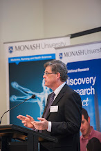 Photo: Prof Ian Davis answering Chris's question. http://www.med.monash.edu.au/cecs/events/2015-tr-symposium.html