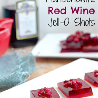 Manischewitz Red Wine Jell-O Shots.