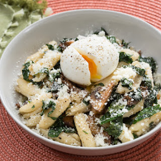 Mushroom Brown Butter Cavatelli with Lacinato Kale & Soft-Boiled Eggs