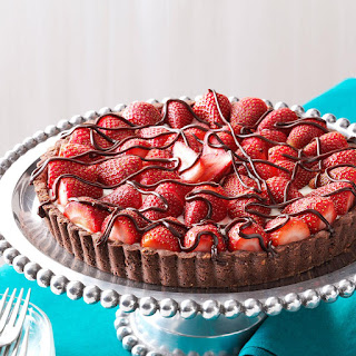 Chocolate-Strawberry Cream Cheese Tart.