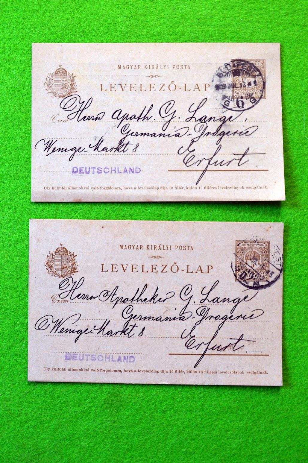 Geschäftspost aus Ungarn - Paprika und Einwickelpapier