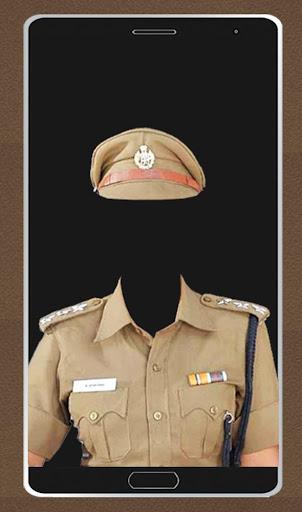警察の写真のスーツ