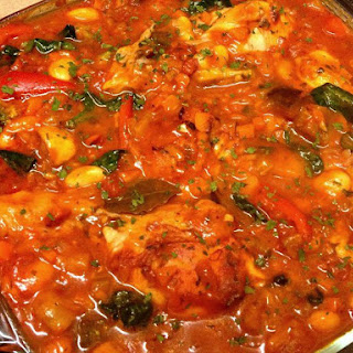 Chicken With Vegetables And Butter Beans Casserole