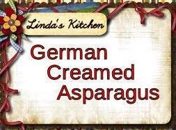 German Creamed Asparagus Recipe