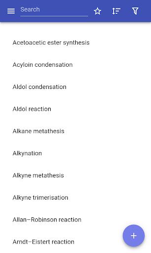 organic reactions screenshot 1
