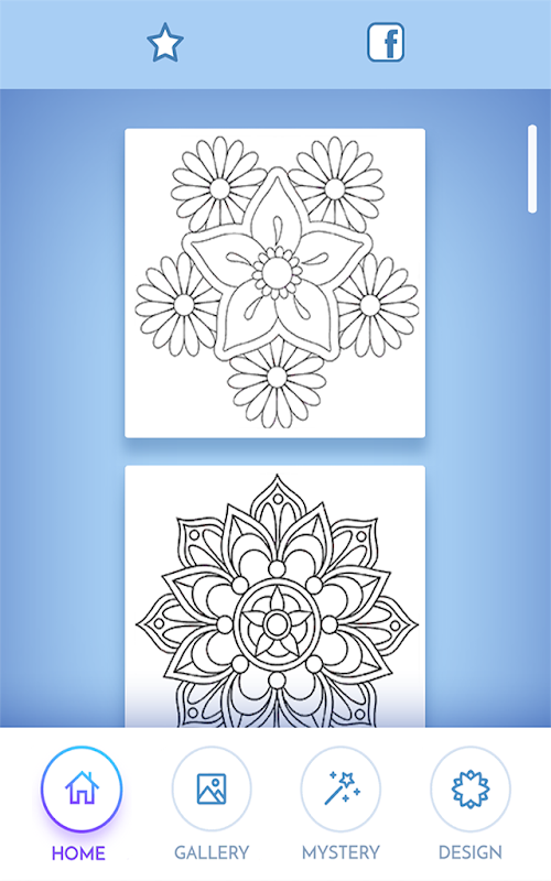 Flowers Mandala Coloring Book Screenshots