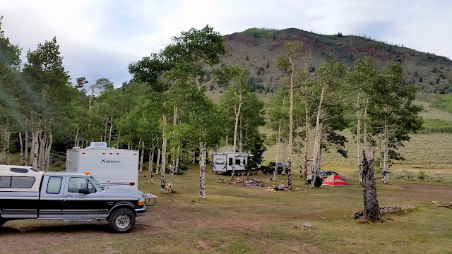 Sparsely populated camp on Thursday evening