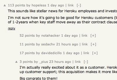 Hacker News Collapsible Comments