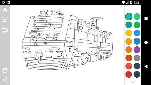 Trains Game Coloring Book 1.7 screenshots 3