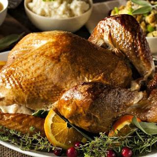 Smoked Turkey with Maple-Herb Brine.