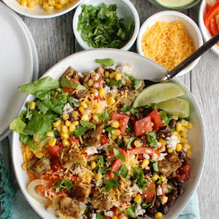 Burrito Bowls with Heirloom Bean Veggie Burgers