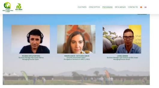 Expertos participantes en el webinar de Rijk Zwaan