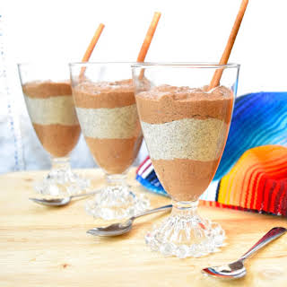 Mexican Chocolate Chia Pudding Parfait.