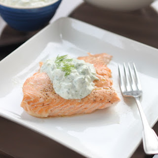 Grilled Salmon and Herb Tzatiki